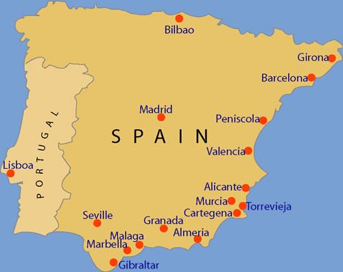 Holiday Map Of Spain.Holiday Villas Europe Peniscola Flights